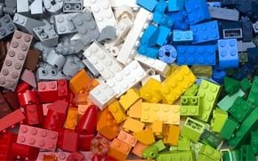 Picture colors, plastic, bricks, LEGO