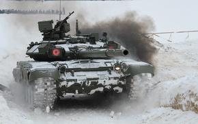 Wallpaper main, Russian, tank, combat, T-90