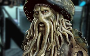 Wallpaper Figure, Davy Jones, Pirates Of The Caribbean, Davy Jones, Pirates of The Caribbean
