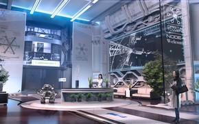 Wallpaper robot, Orbital Towers Node, the room, Igor Sobolevsky