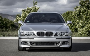 Wallpaper Legend, E39, BMW, Classic, Silver