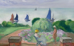 Picture landscape, picture, Henri Lebasque, Henri Lebacq, On the Terrace in Preface