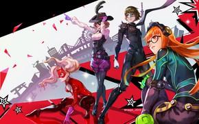 Picture girl, game, hat, anime, mask, headphone, seifuku, Person 5, Persona, japonese, bishojomask