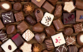 Picture candy, sweets, a lot, chocolate, cuts