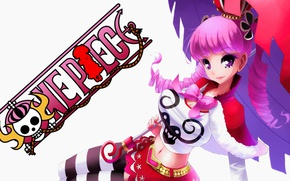 Picture kawaii, sake, girl, zombie, game, ghost, One Piece, pink hair, long hair, dress, hat, umbrella, …