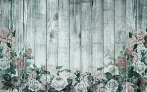 Wallpaper vintage, Wallpaper, wood, roses, retro, flowers