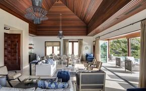 Picture Villa, interior, pool, terrace, living room, dining room, Turtle Tail Villa