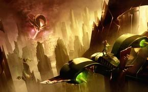 Picture Flash Gordon, Reimagined, Ming and Hawkmen