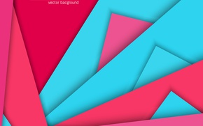 Picture abstract, red, geometry, design, pink, lines background, material, light blue