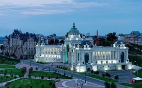 Wallpaper the sky, Agriculturers palace, Palace, The Palace of farmers, the evening, Russia, Kazan, area, Kazan, ...