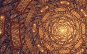 Picture texture, art, Sun, fractal, Tatyana Zabanova