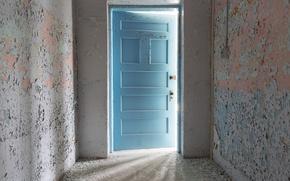 Wallpaper background, the door, room
