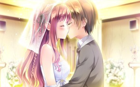 Picture kiss, art, two, omoi o sasageru otome no melody