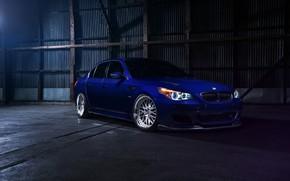 Picture BMW, Blue, E60