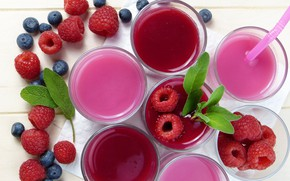 Wallpaper berries, juice, drink, fresh