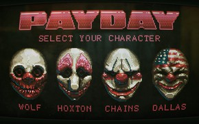 Picture game, mask, Payday 2, Payday