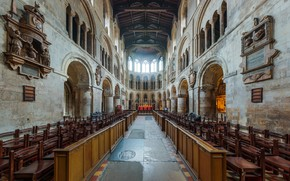Picture interior, London, UK, Diliff, the Great Altar, St Bartholomew