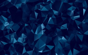 Picture background, dark, geometry, figure, polygonal, blue, abstraction, abstract