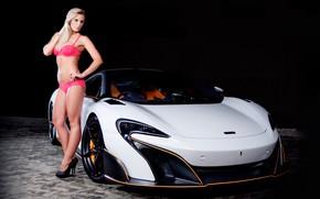 Picture auto, look, McLaren, blonde, linen, Erotic, beautiful girl