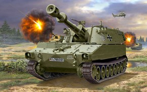 Picture SAU, self-propelled howitzer, The Bundeswehr, M109, Bundeswehr, the German armed forces, 155mm, Self-Propelled Howitzer, American …