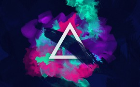 Picture Music, Background, Triangle, Color, Paint, Electronic, Synthpop, Synth, Retrowave, Synth-pop, Sinti, Synthwave, Synth pop