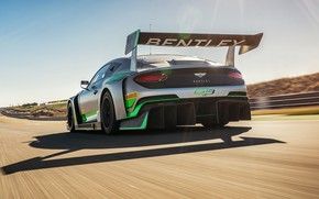 Picture Bentley, Continental, racing car, rear view, GT3, 2018