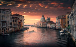Wallpaper the city, Italy, channel, home, Venice