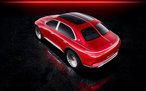 Picture Mercedes-Benz, Vision, rear view, the view from the top, 2018, Mercedes-Maybach, electrocreaser, Ultimate Luxury