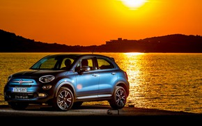 Picture sunset, 2018, Fiat, Mirror, 500X