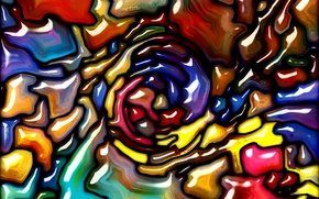 Picture paint, colors, colorful, abstract, stained glass, rainbow, background, painting