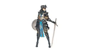 Wallpaper armor, knight, sword, girl