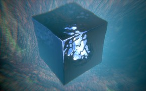 Picture depth, cube, deep, blender3d, primitive