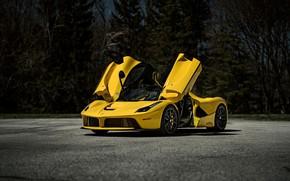 Picture Ferrari, Scuderia, Yellow, Italia, LaFerrari