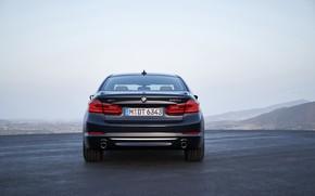 Picture the sky, BMW, sedan, xDrive, feed, 530d, Luxury Line, 5, dark blue, four-door, 2017, 5-series, …