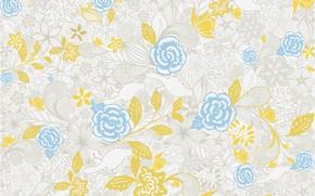 Wallpaper flowers, background, pattern, design, pattern