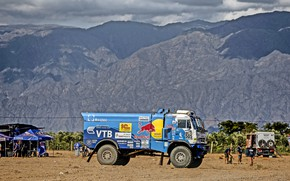 Picture Mountains, Grass, Sport, Speed, People, Race, Master, Dirt, Hills, Squirt, Russia, Kamaz, Rally, Dakar, Dakar, ...