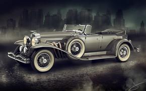 Picture the city, car, 1929 Duesenberg Model J Dual Cowl Phaeton