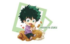Picture food, anime, baby, art, Boku no Hero Academy, Izuku Midoriya