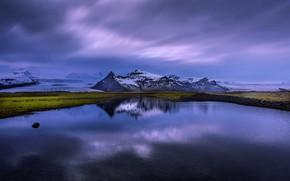 Wallpaper Iceland, reflection, lake, Iceland