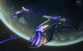 Picture space, planet, Online Strategy Game, A.D. 2460, The Volt