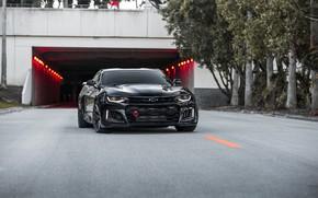 Picture Chevrolet, Camaro, Black, America, Tunnel, Sight, ZL-1