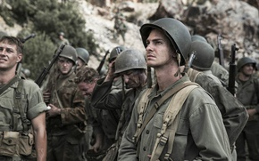 Wallpaper the film, frame, soldiers, form, helmet, history, military, Andrew Garfield, Andrew Garfield, Hacksaw Ridge, For ...