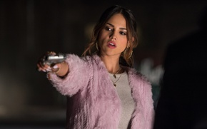Picture Baby Driver, gun, Eiza Gonzalez, Baby on the drive