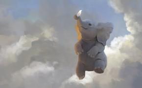Picture mood, art, children's, elephant, Follow Your Dreams, Leesha Hannigan
