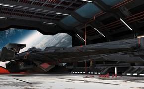 Picture planet, UNFS - JAVELIN, hangar, aircraft