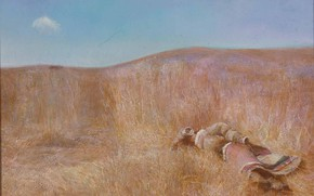 Picture the sky, the steppe, clothing, ears, stuffed, HongNian Zhang, Dreming-At-Noon