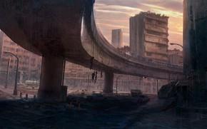 Picture the city, death, destruction, Cartel Style