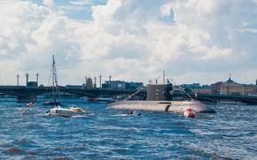 Wallpaper underwater, Krasnodar, boat, diesel