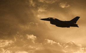 Picture USA, F-16, Fighting Falcon, General Dynamics, the fourth generation fighter, American multifunctional lightweight