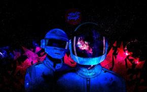 Picture Music, Space, Style, Background, Daft Punk, Thomas Bangalter, Daft Punk, Mask, Guy Manuel de Homem …